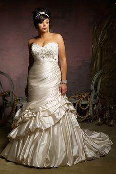 Automne Traîne Mi-longue Grandes Tailles Formelle Robe de Mariée