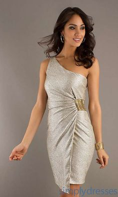 new collection Short One Shoulder Laundry by Shelli Segal Dress for girls incredibly best