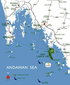Krabi - Phuket Map