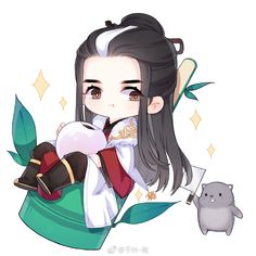 Chibi Kawaii, Cute Anime Chibi, Cute Anime Pics, Chinese Drawings, Art Drawings, Kpop, Amazing Art, Manga Anime, Cute Pictures