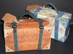 Box Tutorial (Yes my own unique box tutorial), . Suitcase Box Tutorial (Yes my own unique box tutorial), Cardboard Suitcase, Diy Cardboard, Karton Design, Box Photo, Diy Paper, Paper Crafts, Scrapbook Box, Scrapbooking, Cumpleaños Harry Potter