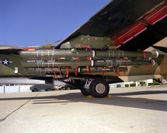 F-111 external payload of Matra Durandal concrete penetration bombs.