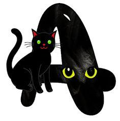 Fancy Alphabet: BLACK CAT ALPHABET.