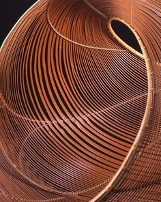 Bamboo basket by National Living Treasure of Japan, Shounsai SHONO (1904~1974)