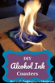 DIY Alcohol Ink Coasters - The Crafty Baking Nurse - diy and joy Sharpie Alcohol, Alcohol Ink Tiles, Alcohol Ink Glass, Alcohol Ink Crafts, Alcohol Ink Painting, Sharpies, Sharpie Art, Rubbing Alcohol, Fun Crafts To Do