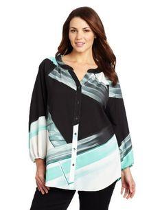 Calvin Klein Women's Plus-Size Print Blouse Calvin Klein, http://www.amazon.com/dp/B009S5Y0EK/ref=cm_sw_r_pi_dp_tEHbrb08W49WV
