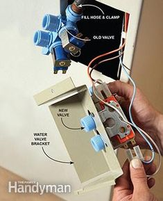 Fix 90 percent of clothes washer breakdowns with these four easy washing machine repair fixes—including filling and draining problems. Kenmore Washer, Water Valves, Clean Washing Machine, Home Fix, Appliance Repair, Home Repairs, Washer And Dryer, Clean House, Cleaning Hacks