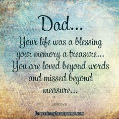 I miss you dad. Today is always one of the toughest days