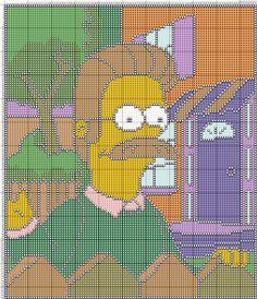 The Simpsons x-stitch