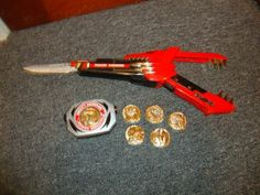 Power Ranger Gun Sword and Morpher with Coins - I still totally have these...along with the other Power Rangers' weapons...