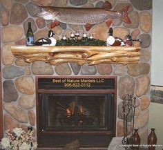 13 best cabin fireplace mantle images cabin fireplace fireplace rh pinterest com Log Cabin Stone Fireplace Farmhouse Fireplace Mantels