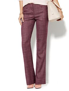 Shop 7th Avenue Design Studio Pant - Signature Fit - Bootcut - True Burgundy. Find your perfect size online at the best price at New York & Company.