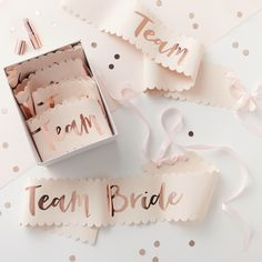 Pink & Rose Gold Team Bride Sashes, Hen Party, Team Bride, Bridal Party Sashes, Bachelorette Party, 6 Pack by ThatPerfectPartyCo on Etsy https://www.etsy.com/listing/530633983/pink-rose-gold-team-bride-sashes-hen