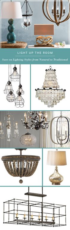 Looking for some bright decorating ideas? Whether it's a pendant, table lamp, or chandelier, lighting can have a major effect on the look and feel of your space. Home Lighting, Chandelier Lighting, Lighting Ideas, Interior Decorating, Decorating Ideas, Interior Design, Interior Modern, Fixer Upper, Trends 2016
