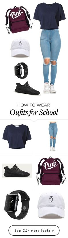"""Simple outfit for school"" by yaire787 on Polyvore featuring daniel patrick and adidas"
