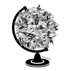 Resultado de imagem para black and white flower drawing