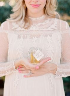 Taylor Sterling's Baby Shower | theglitterguide.com | jarred honey party favors