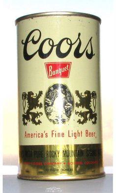 Older Coors Banquet Beer design