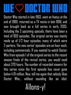Proud to be a Whovian!