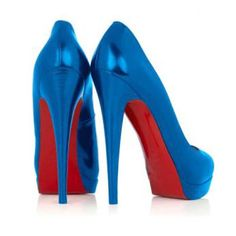 Classic Black Christian Louboutin pumps a must have! Gotta love those trademark red soles! Red High Heels, Blue Pumps, Blue Shoes, Crazy Shoes, Me Too Shoes, Black Christian Louboutin, Blue Wedding Shoes, Wedding Dress, Red Bottom Shoes