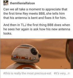 and Rey in Star Wars: The Force Awakens and Star Wars: The Last Jedi Star Wars Love, Star War 3, Star Trek, Reylo, The Force Is Strong, Last Jedi, Star Wars Humor, Love Stars, Film Serie