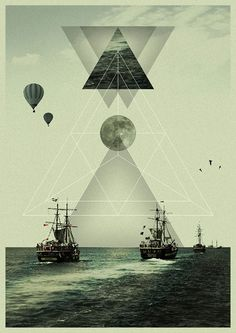 ✖KØNSTRUKTIVIST✖ (davidcristian: Bermuda Triangle by Victor Eide) I love the geometric forms. totally my style. Graphic Design Illustration, Graphic Art, Illustration Art, Crea Design, Design Art, Design Graphique, Art Graphique, Graphic Design Inspiration, Creative Inspiration