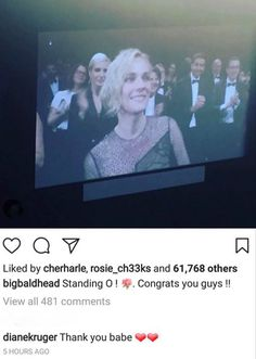 "Norman Reedus congratulates Diane Kruger and cast for a standing ovation at the screening of the film ""In The Fade"" at the 70th International Film Festival, Cannes, Southern France on May 26, 2017 #thewalkingdead #twd #thewalkingdeadseason7"