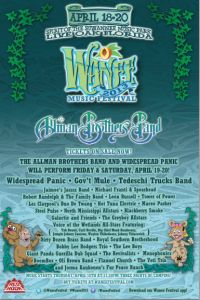 2013 Wanee #Music #Festival #Lineup   Apr 18 - 20   The Spirit of the Suwannee Music Park   Live Oak, Florida