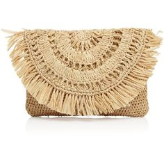 mar Y sol Mia Pouch (€39) ❤ liked on Polyvore featuring bags, handbags, clutches, straw purse, special occasion clutches, evening purses, evening handbags and beach bag