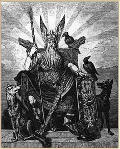 Norse Mythology -- The Beginning (part of Valkyries Legends, Sagas, Faery Tales) Picture of Norse god- Odin