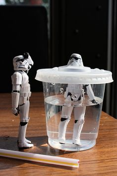 I don't know if one storm trooper turned on his buddy or there was some sort of horrible accident...someone should help them.