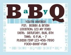 Baby BBQ ~~~ I love this party, great idea, cool games & wish I had been there