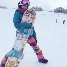 わたしの冬始まった #スノーボード#キューピットバレイ#痛板#化物語#少女と幼女#自作 by yukinco1023