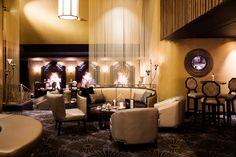 Dom's cocktail lounge in Australia. Kriskadecor metal curtains. #decor #bar #design #interior