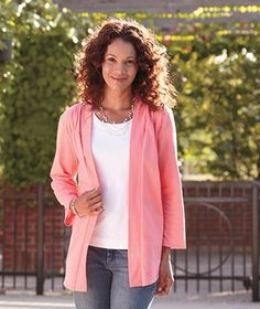 Women's Open Front Cardigan will expand your fashion options. Wear it with jeans and a favorite T-shirt or tank and it brings new flair to easy-going style. Wear it with dressier pants and it complements most business casual outfits. Lightweight and comfortable, it adds an extra layer for cooler spring and fall days.