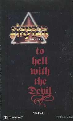 To Hell with the Devil by Stryper (Cassette, Jul-1991, Hollywood) #Christian