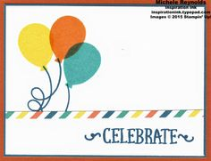 Alternate idea using Stampin' Up!'s May 2015 Paper Pumpkin Kit - Birthday Bundle. By Michele Reynolds, Inspiration Ink. #stampinup #inspirationink #paperpumpkin