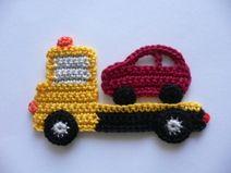Crochet tow truck applique