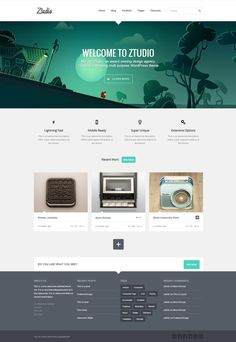 Ztudio WP Theme by WordPress Awards , via Behance