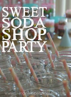 Think throwing an amazing birthday party on a tight budget is impossible? Think again! This gorgeous Sweet Soda Shop party for 50 guests had a budget of just $200. You seriously won't believe how it all came together!