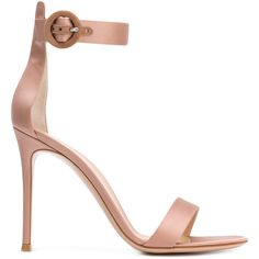 Gianvito Rossi Portofino 105 sandals (8 795 ZAR) ❤ liked on Polyvore featuring shoes, sandals, pink, open toe shoes, leather shoes, ankle strap stilettos, ankle strap sandals and stilettos shoes