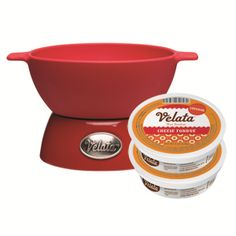 It's a Velata Cheesy Deal!! Buy a party size warmer (shown) and receive 2 tubs of FREE Velata cheese fondue!
