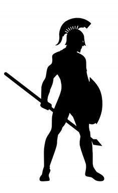 Silhouette Pictures, Silhouette Art, Warrior Images, Warrior Within, Warrior Drawing, Spartan Warrior, Anatomy Poses, Armor Concept, Black White Art