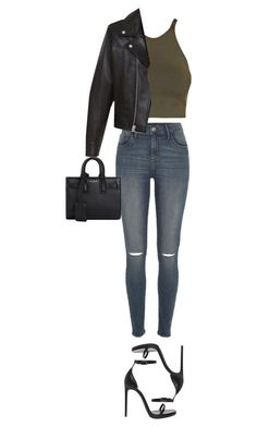 """""""Untitled #829"""" by nicole-matos ❤ liked on Polyvore featuring C/MEO COLLECTIVE, River Island and Yves Saint Laurent"""