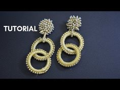 Gold earrings made in Europe will have different markings. For example, will be marked as will be marked as and 12 K will be marked as Diy Jewelry, Beaded Jewelry, Handmade Jewelry, Beaded Earrings, Crochet Earrings, Gold Earrings, Thread Jewellery, Bead Weaving, Beading Patterns