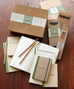 For ecologically responsible pencils, the ForestChoice FSC certified pencil range is wonderful ... and now, notebooks.  I'm seriously thrilled.  Thankfully it is impossible to own too many notebooks.