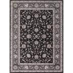 Kashan Mahal Anthracite (Grey) 7 ft. 10 in. x 9 ft. 10 in. Area Rug
