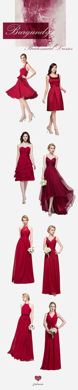 Burgundy Bridesmaid Dresses! #bridesmaiddress