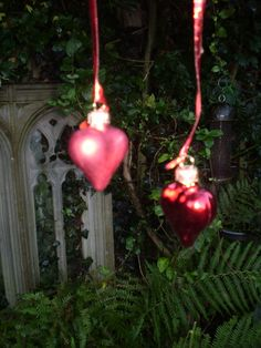 The Garden Room - 2 Beautiful Danish Red glass Heart Christmas decorations , �6.99 (http://www.the-gardenroom.co.uk/2-beautiful-danish-red-glass-heart-christmas-decorations/)