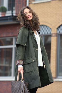 Mulberry waxed army-inspired coat